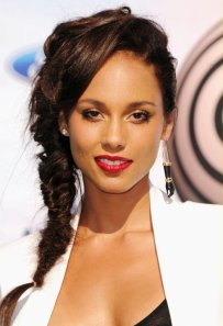 Alicia keys fishtail braid hairstyle