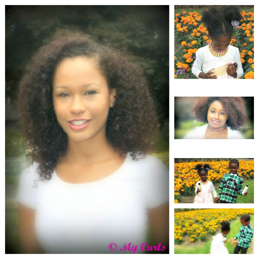 summer photo shoot- my curls natural curly hair products