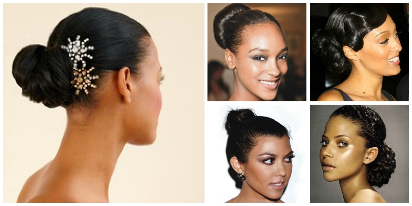 Gorgeous Bun hairstyles for curly and afro hair