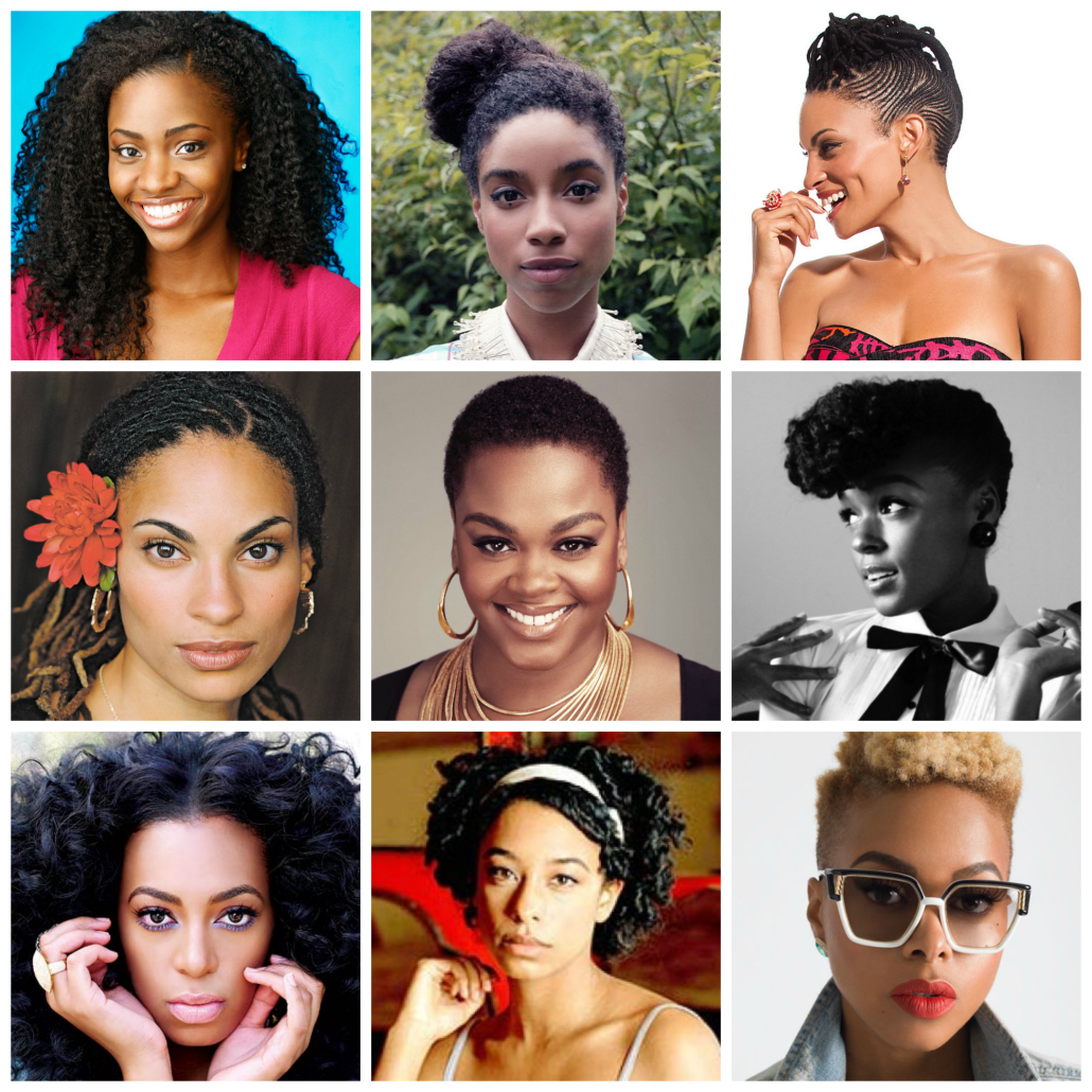 Natural haired celebrity inspiration