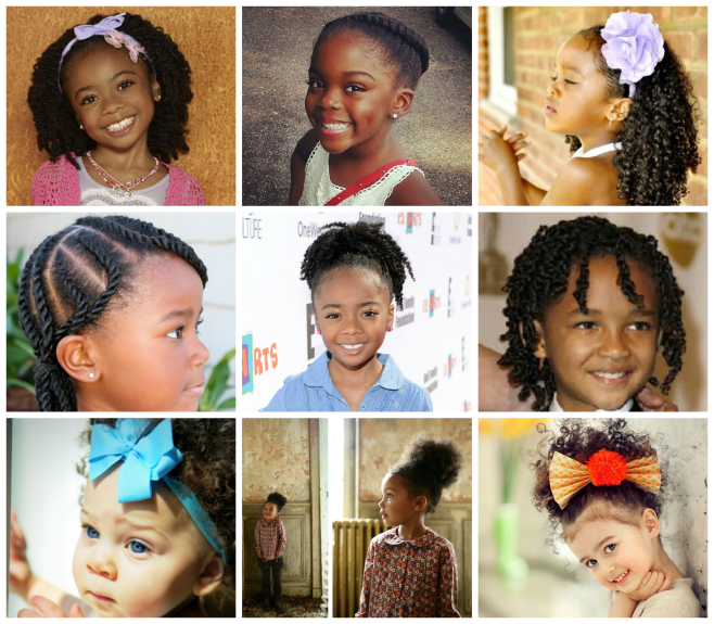 Back to school hair blog collage