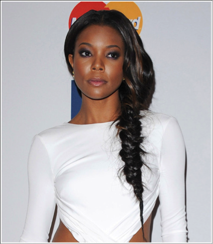 gabrielle union fishtail braid hairstyle