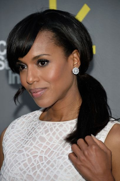 kerry washington ponytail hair