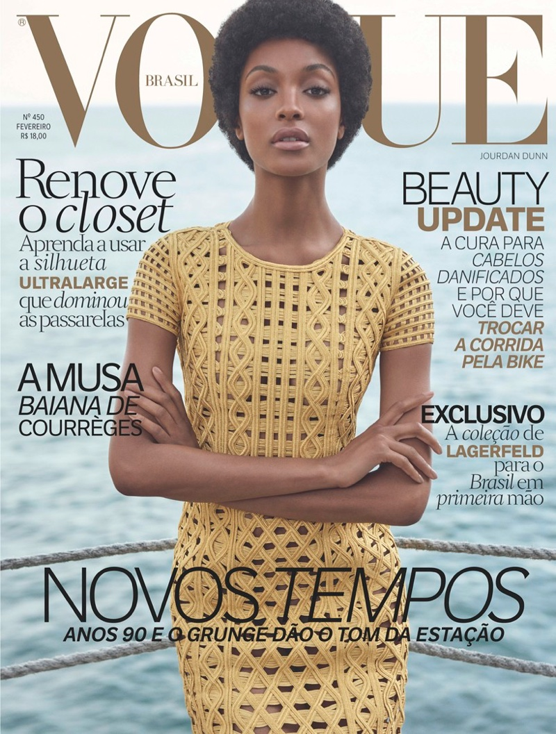jourdan dunn afro vogue february 2016